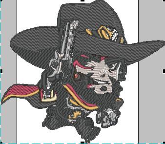 Overwatch McCree chibi stitched