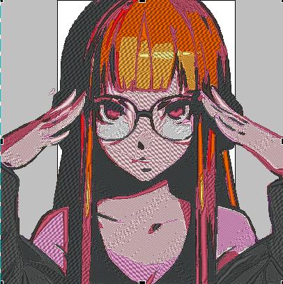 Persona Futaba Sakura Embroidery