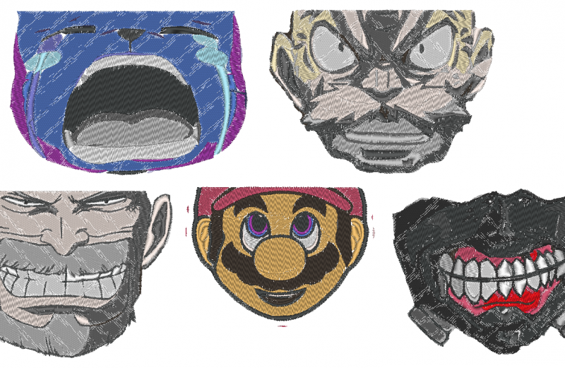 Anime Group Mask Faces
