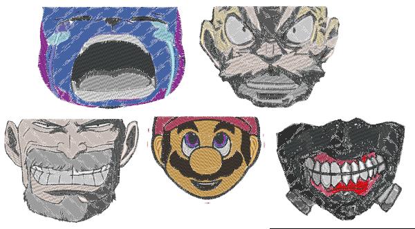 Anime Embroidery DIY Masks