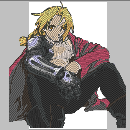 Anime Embroidery Full Metal Alchemist Edward Elric