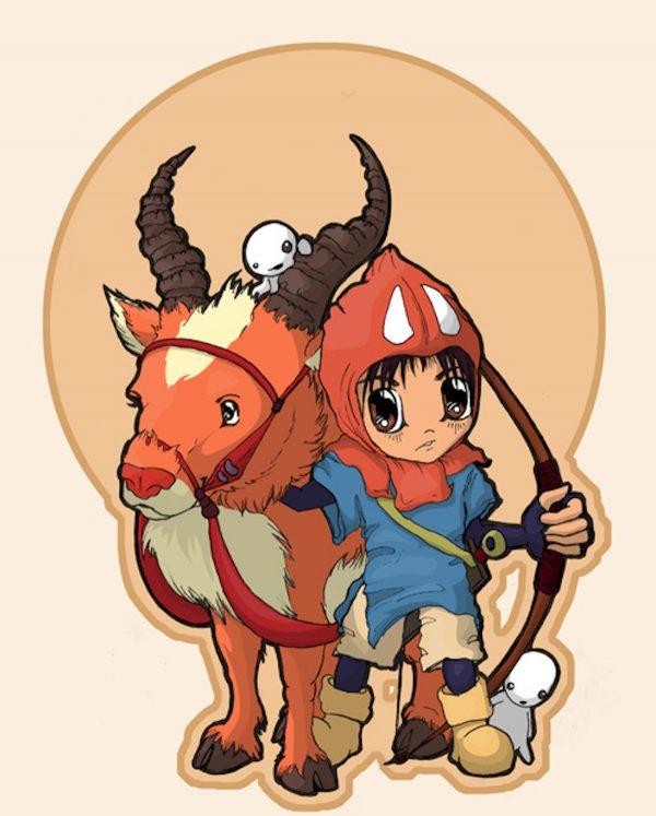 Princess Mononoke Ashitaka chibi