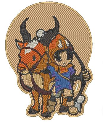 Princess Mononoke Ashitaka stitched