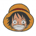 Anime Embroidery One Piece Monkey Luffy Head