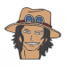 Anime Embroidery One Piece Portgas Head