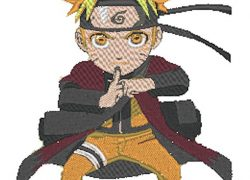Anime Embroidery Naruto Sage Chibi