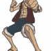 Anime Embroidery Monkey Luffy Stance