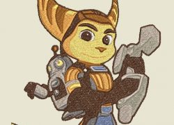 Embroidery Ratchet And Clank