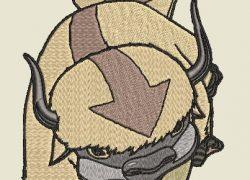 Anime Embroidery Appa Walk