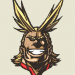 Anime Embroidery All Might