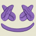 Embroidery Pattern Fortnite Marshmello Face