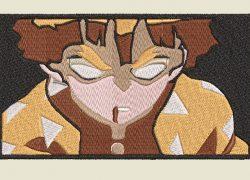 Anime Embroidery Demon Slayer Zenitsu Closeup Simple